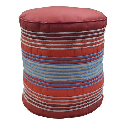 Shoelace Cord Pouf Ottoman Upholstery: Rust