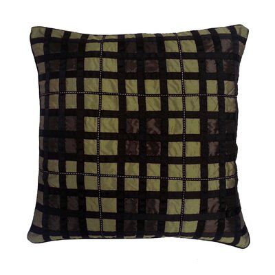 Belgravia Plaid Throw Pillow Color: A.Gold / Choc / Black