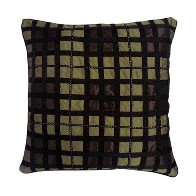 Belgravia Plaid Throw Pillow Color: A.Gold / Choc / Black