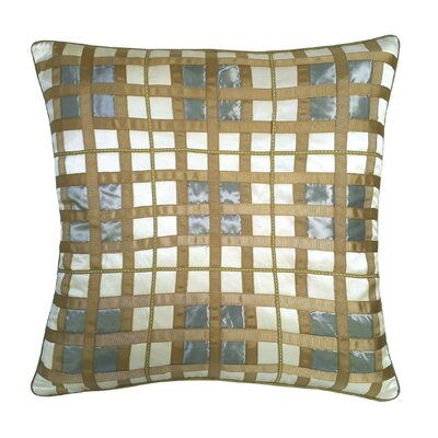 Belgravia Plaid Throw Pillow Color: Cream / Mineral / Taupe