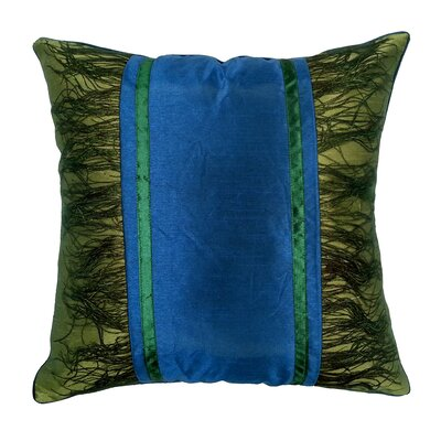 Peacock Plume Throw Pillow