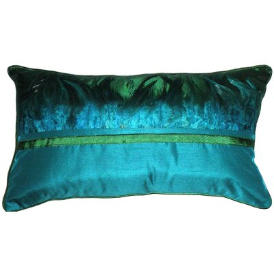 Peacock Feather Lumbar Pillow