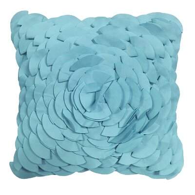 Dimensional Peony Indoor/Outdoor Throw Pillow Color: Capri