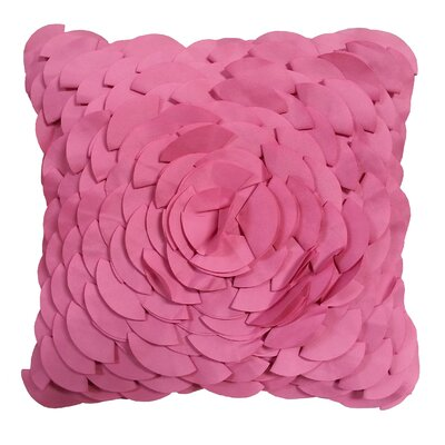 Dimensional Peony Indoor/Outdoor Throw Pillow Color: Fuchsia