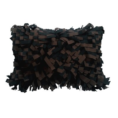 Palmera Outdoor Lumbar Pillow Color: Chocolate/Black
