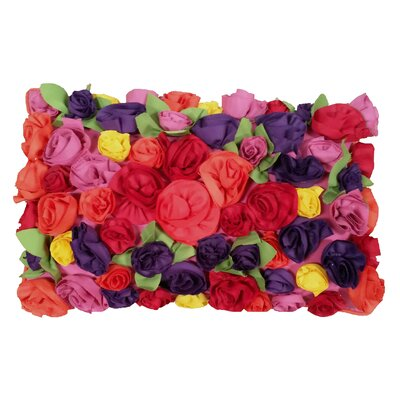 Dimensional Bouquet Indoor/Outdoor Lumbar Pillow
