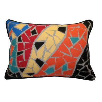 Guell Mosaic Indoor/Outdoor Lumbar Pillow Color: Barcelona
