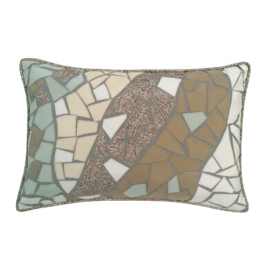 Guell Mosaic Indoor/Outdoor Lumbar Pillow Color: Capistrano