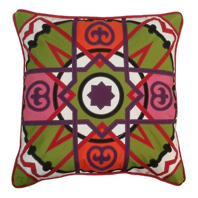 Alhambra Tile Indoor/Outdoor Throw Pillow Color: Bouquet