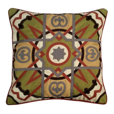 Alhambra Tile Indoor/Outdoor Throw Pillow Color: Sintra
