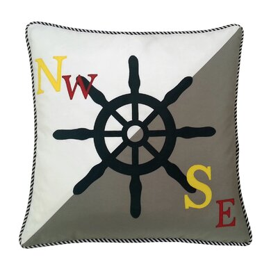 Steering Wheel Indoor/Outdoor Throw Pillow