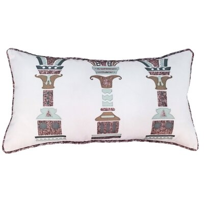 Columns Indoor/Outdoor Lumbar Pillow Color: Capistrano