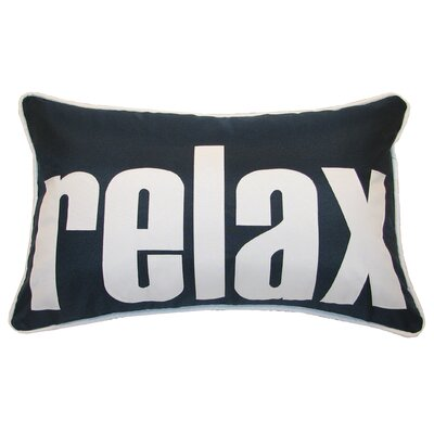 Relax Indoor/Outdoor Lumbar Pillow Color: Navy/White