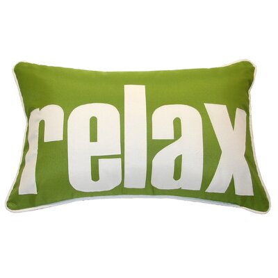 Relax Indoor/Outdoor Lumbar Pillow Color: Leaf/White