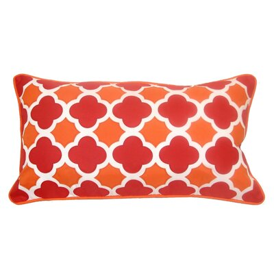 Mini Quatrefoil Indoor/Outdoor Lumbar Pillow Color: Hot