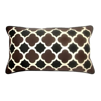 Mini Quatrefoil Indoor/Outdoor Lumbar Pillow Color: Neutral