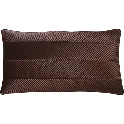Amandes Chevron Cord Lumbar Pillow Color: Chocolate