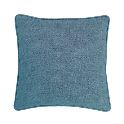 Edie Carlisle Chenille Throw Pillow Color: Blue