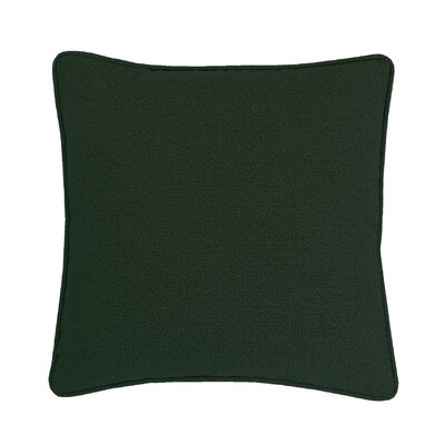 Edie Carlisle Chenille Throw Pillow Color: Hunter