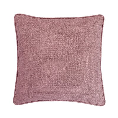 Edie Carlisle Chenille Throw Pillow Color: Rose