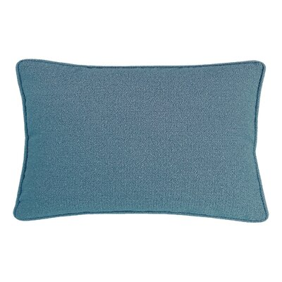Edie Carlisle Chenille Lumbar Pillow Color: Blue