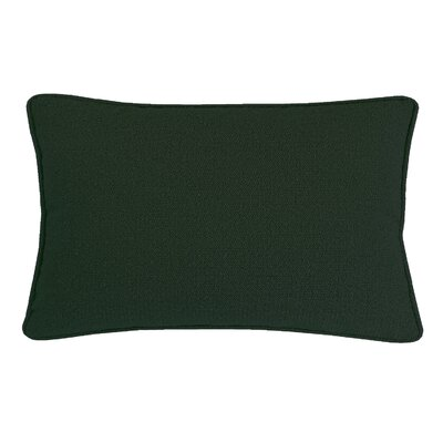 Edie Carlisle Chenille Lumbar Pillow Color: Hunter