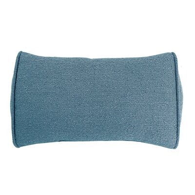 Edie Carlisle Chenille Bolster Pillow Color: Blue