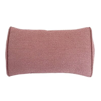 Edie Carlisle Chenille Bolster Pillow Color: Rose