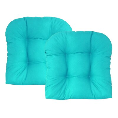 Sonic Diamond Outdoor Chair Cushion Finish: Aqua