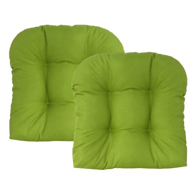 Sonic Diamond Outdoor Chair Cushion Finish: Leaf
