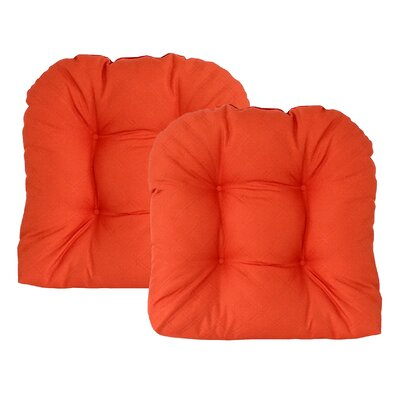 Sonic Diamond Outdoor Chair Cushion Finish: Pumpkin