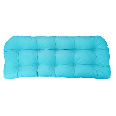 Sonic Diamond Outdoor Bench Cushion Finish: Aqua