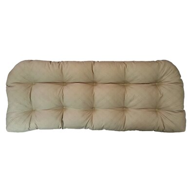 Sonic Diamond Outdoor Bench Cushion Finish: Khaki