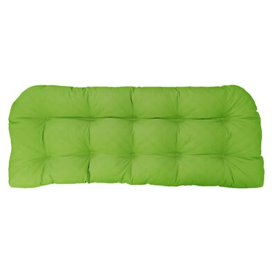 Sonic Diamond Outdoor Bench Cushion Finish: Leaf