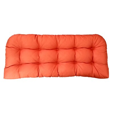 Sonic Diamond Outdoor Bench Cushion Finish: Pumpkin