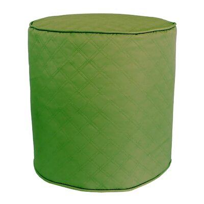Sonic Diamond Pouf Ottoman Finish: Leaf
