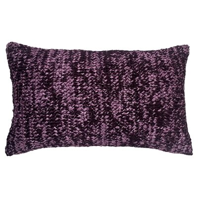 Knitted Ribbon Lumbar Pillow Color: Plum