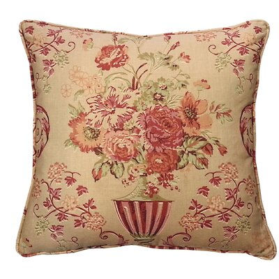 Vase Floral Throw Pillow