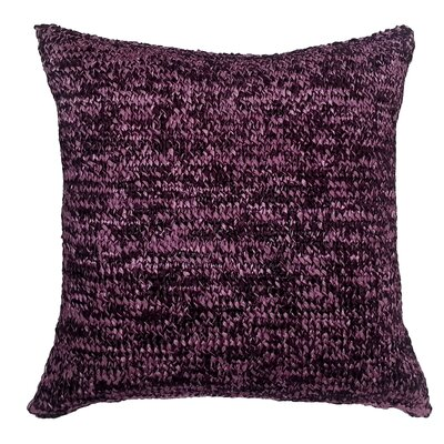 Knitted Ribbon Throw Pillow Color: Plum