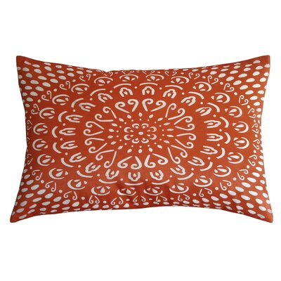 Laser Tile Lumbar Pillow Color: Orange/Cream
