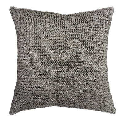 Knitted Ribbon Throw Pillow Color: Gray