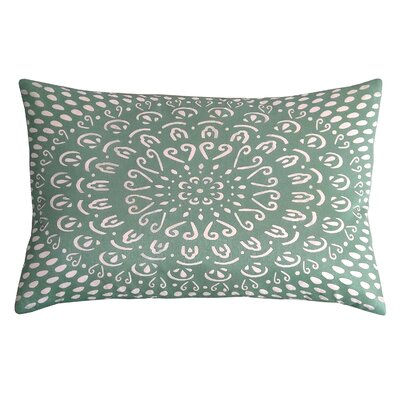 Laser Tile Lumbar Pillow Color: Mineral/Cream