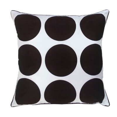 Laser Dot Throw Pillow Color: Black/White