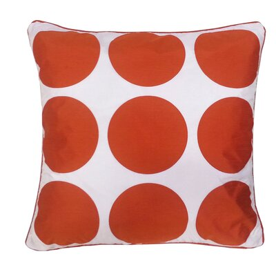 Laser Dot Throw Pillow Color: Orange/White