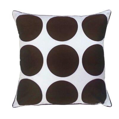Laser Dot Throw Pillow Color: Chocolate/White