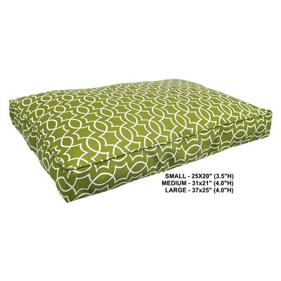 Titan Indoor/Outdoor Dog Bed Color: Kiwi, Size: Super (37 L x 25 W)