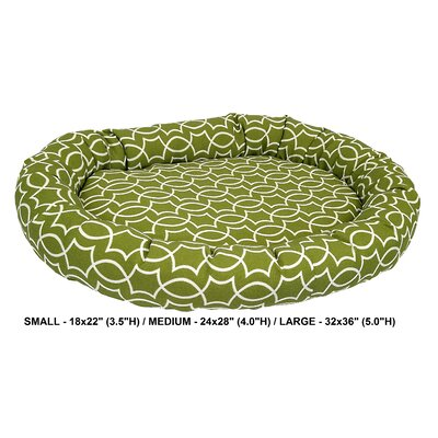 Titan Indoor/Outdoor Bolster Dog Bed Color: Kiwi, Size: Super (32 L x 36 W)
