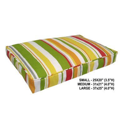 Nadia Stripe Indoor/Outdoor Dog Bed Color: Poppy, Size: Super (37 L x 25 W)