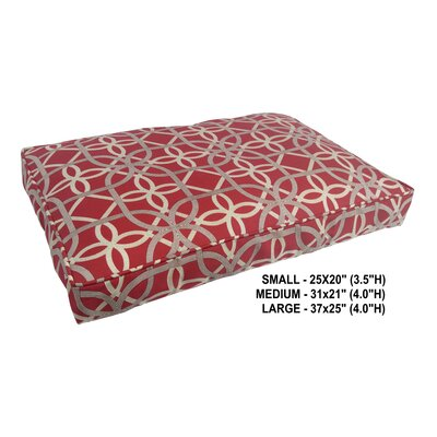 Chelsea Indoor/Outdoor Pet Bed Size: Small, Color: Cherry
