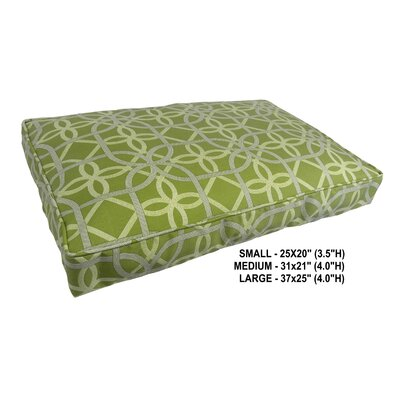 Keene Indoor/Outdoor Pet Bed Color: Kiwi, Size: Large